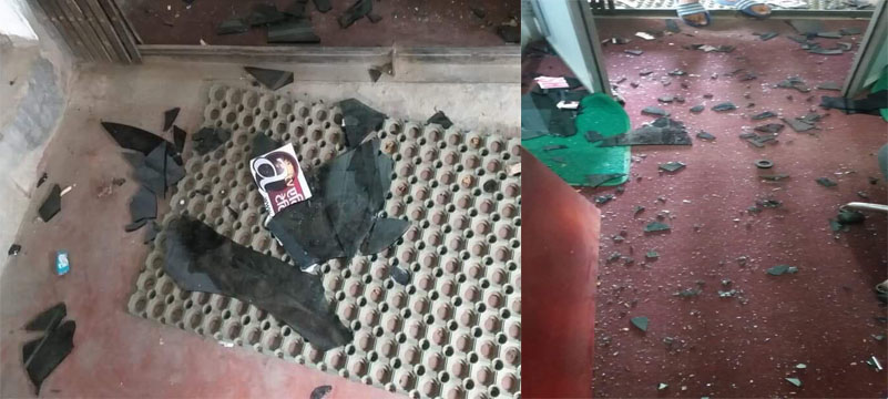 Political cadres vandalize television office
